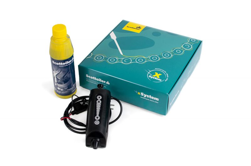 The Scottoiler xSystem - an effetive chain oiler lubrication solution. Perfect for the modern tourer and everyday commuter!